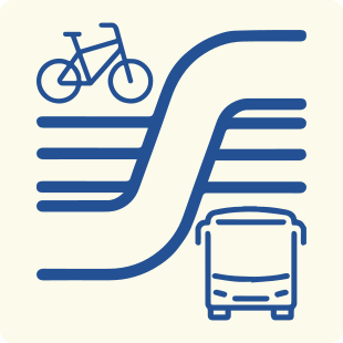 Icon links to the planning study that was previously conducted on the North-South Bus Rapid Transit project.