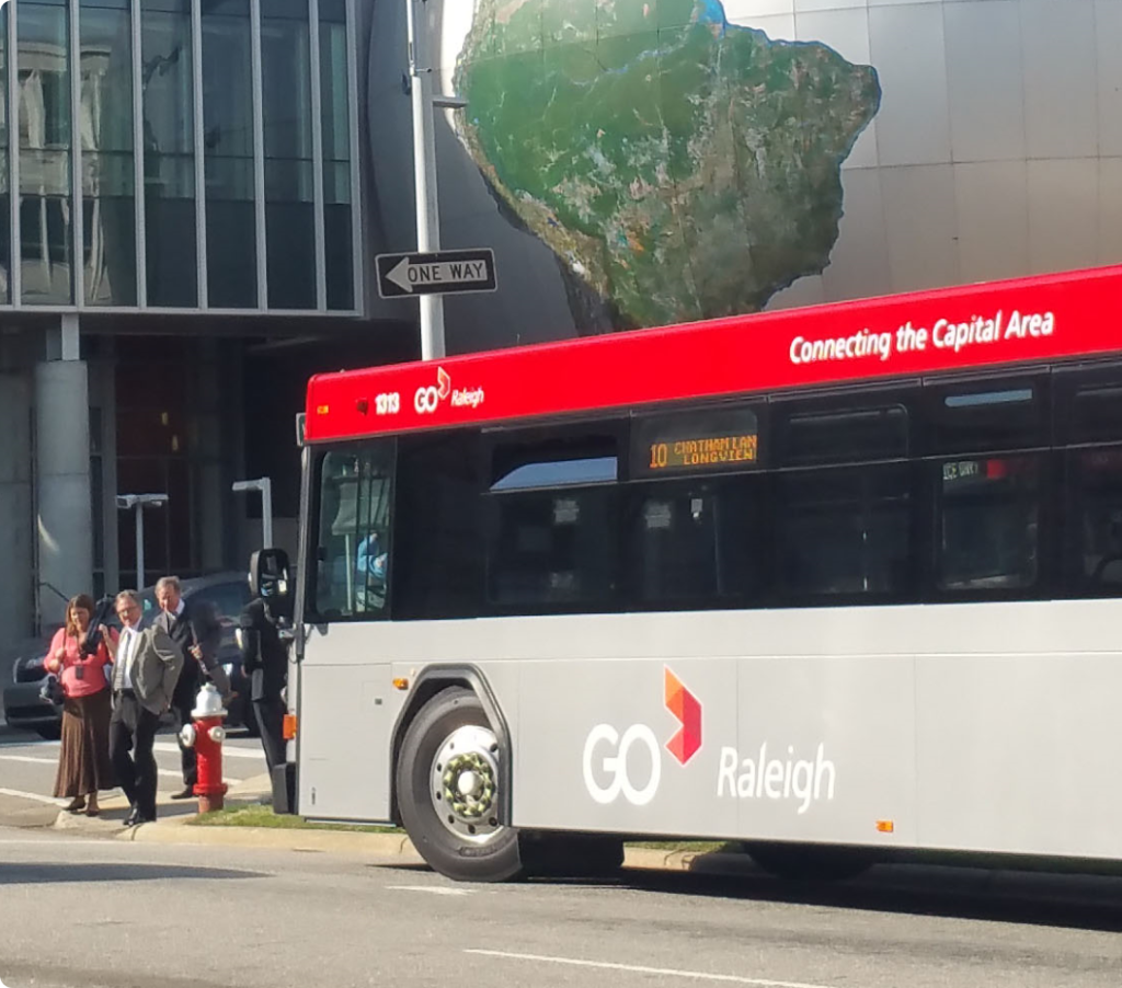 Planning is currently underway in Wake County (Raleigh, North Carolina) for its first bus rapid transit system.
