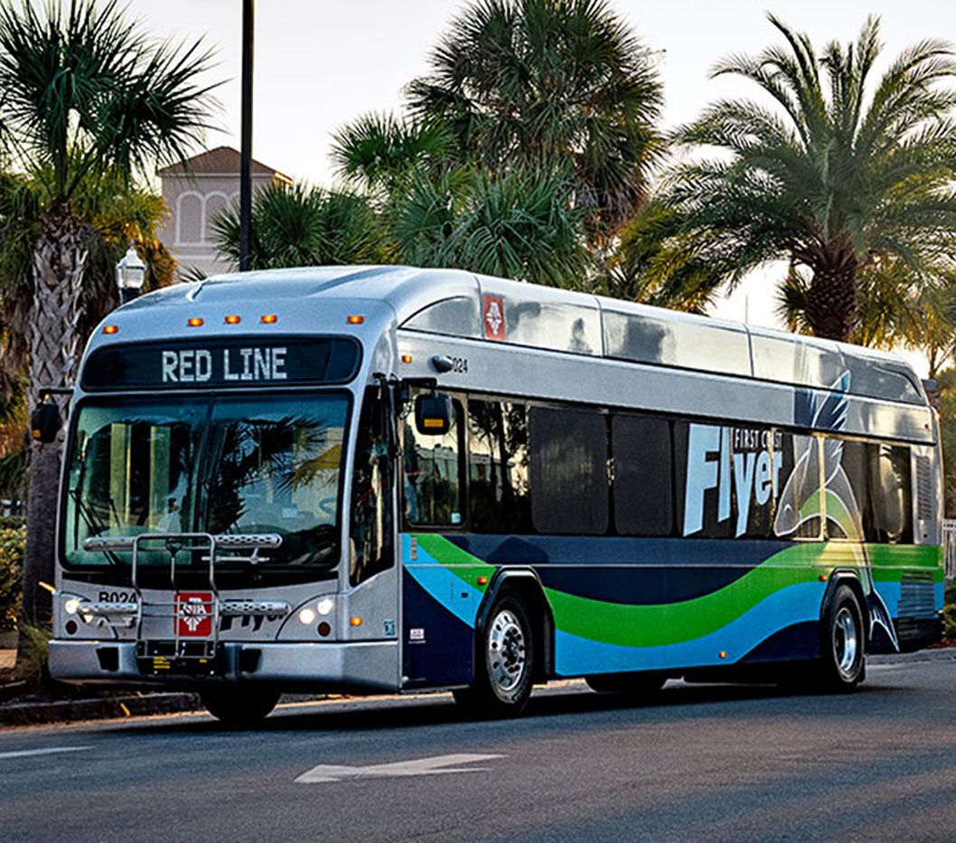 In 2018, the First Coast Flyer in Jacksonville, Florida became the southeast's largest bus rapid transit system.